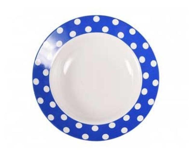 Тарелка Горошек на синем фоне Добрушский фарфоровый завод spe790834