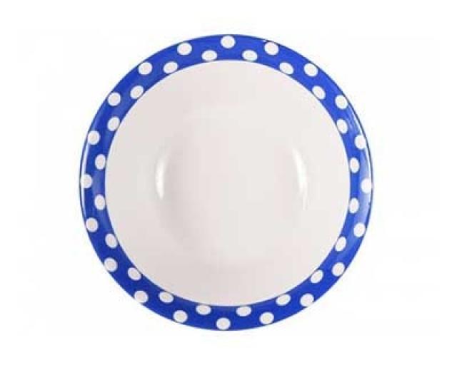 Салатник Горошек на синем фоне Добрушский фарфоровый завод spe790835