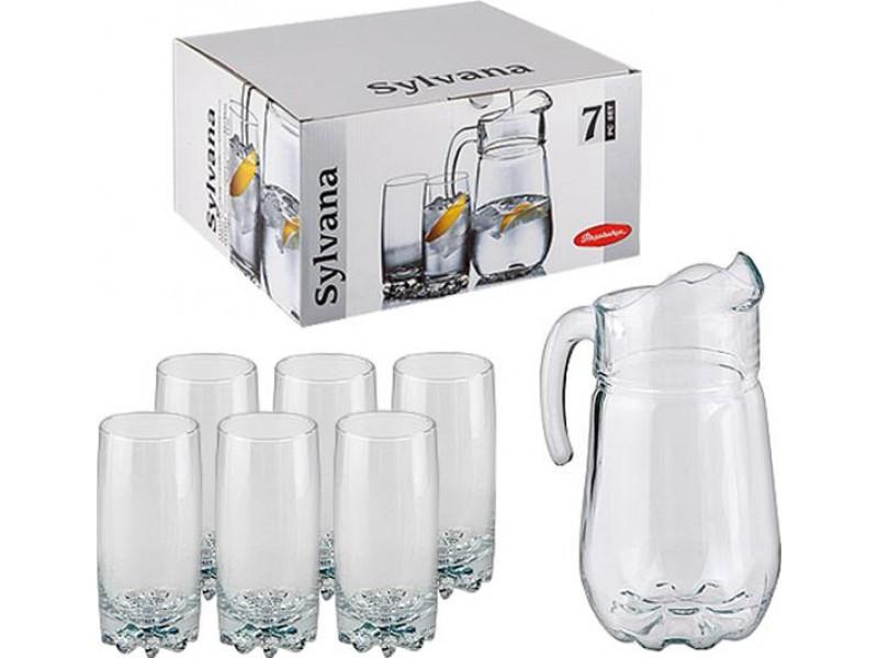 Кувшин и 6 стаканов Sylvana Pasabahce psb790631