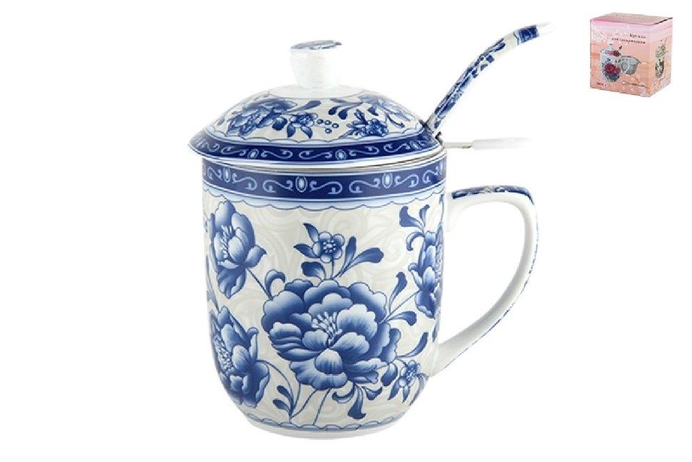 Кружка Синие цветы Коралл spe790906