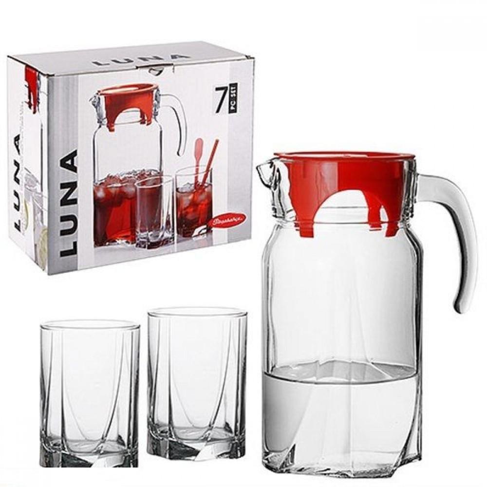 Кувшин и 6 стаканов Luna Pasabahce psb790634