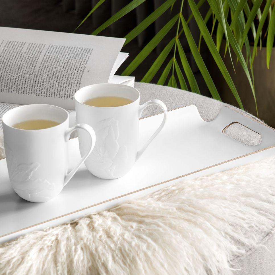 Деревянный поднос Киран цвет: белый (50х20 см) Togas tgs792639