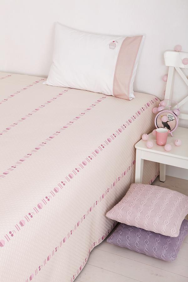 Купить Покрывала, подушки, одеяла для малышей Luxberry, Детское покрывало Cupcake Цвет: Розовый (200х220 см), Португалия, Хлопковый жаккард