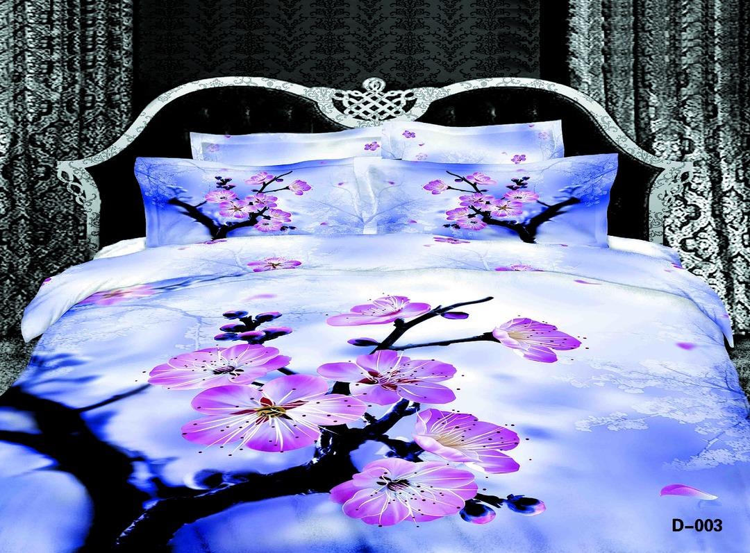 Купить Комплекты постельного белья Mioletto, Постельное белье Merle (2 спал.), Китай, Голубой, Розовый, Хлопковый сатин