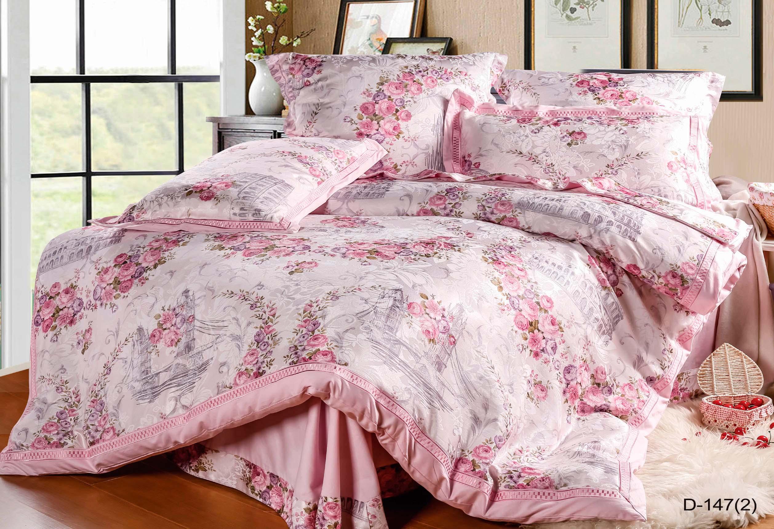 Купить Комплекты постельного белья СайлиД, Постельное белье Grant (семейное), Китай, Розовый, Хлопковый сатин