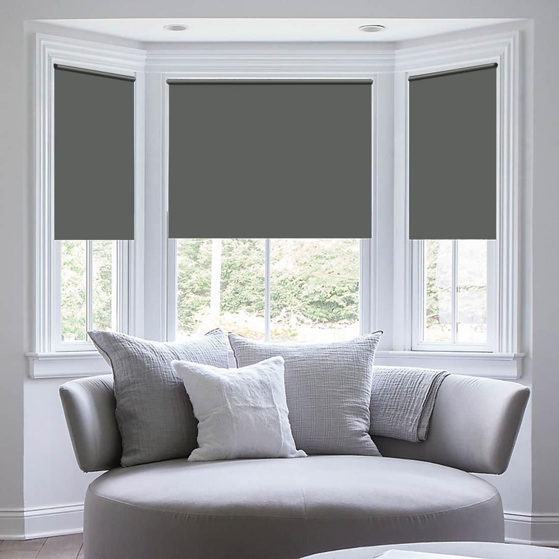Купить Римские и рулонные шторы Sleep iX, Миниролло Sleep iX Eclipce Цвет: Серый, Серебряный, Япония, Blackout