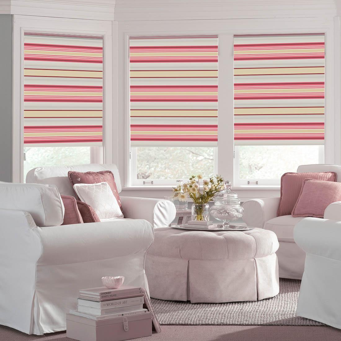 Купить Римские и рулонные шторы Dome, Миниролло Dome Design Цвет: Розовый, Дания, Портьерная ткань
