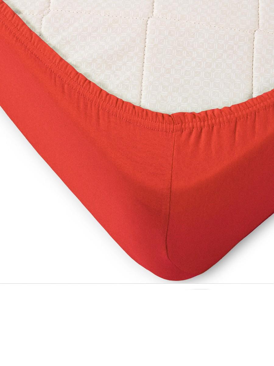 Простыня на резинке Ackley Цвет: Красный (160х200)