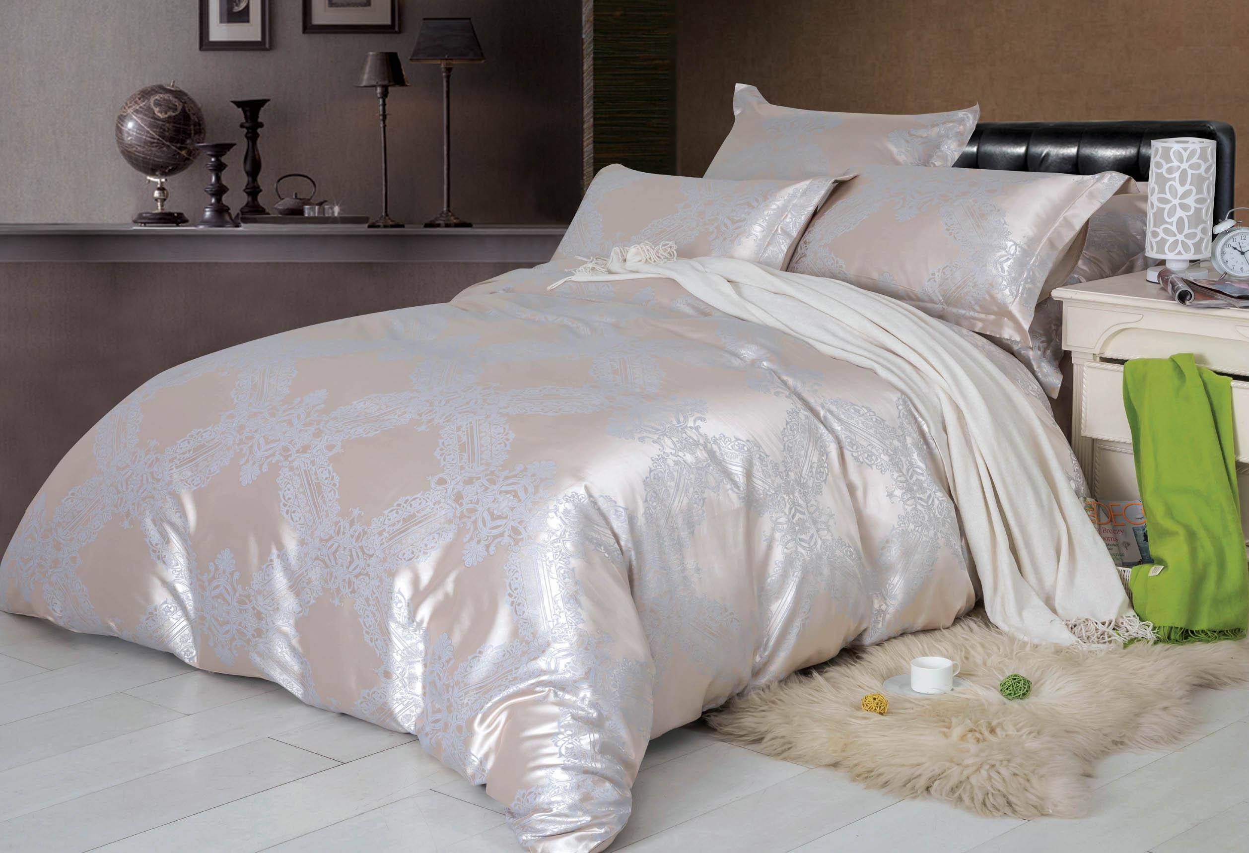 Купить Комплекты постельного белья СайлиД, Постельное белье Patricia F-137 (2 сп. евро), Китай, Хлопковый сатин