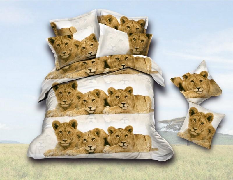 Купить Комплекты постельного белья Fantasy, Постельное белье Животный мир (2 сп. евро), Россия, Синтетический сатин
