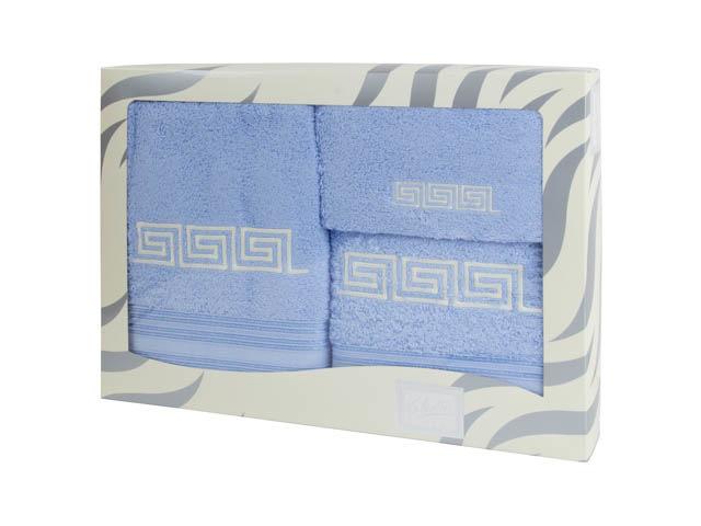 Купить Полотенца Valentini, Полотенце Fashion 2 Цвет: Голубой (Набор), Португалия, Махра