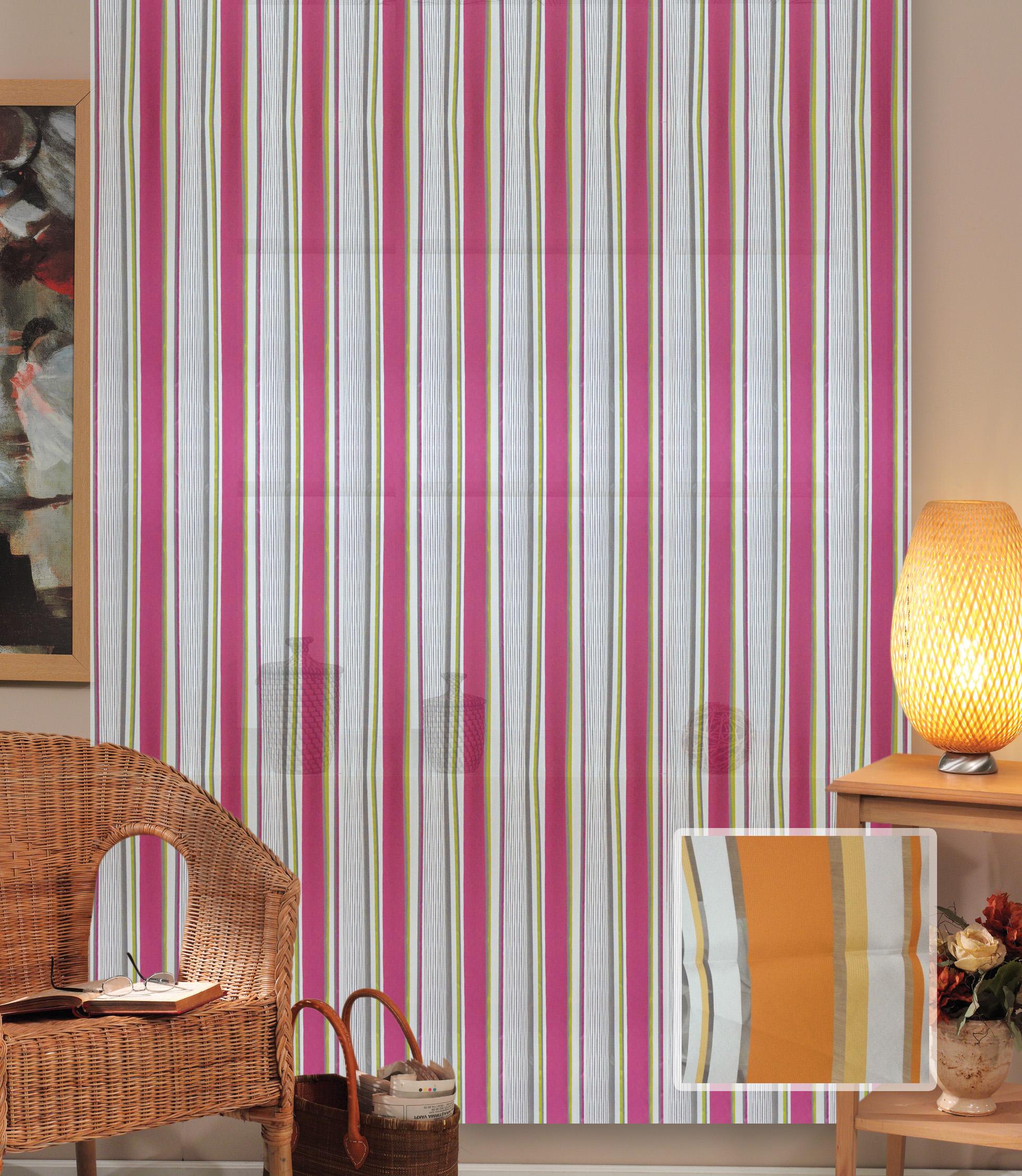 Купить Шторы Miranda, Классические шторы Christianne Цвет: Оранжевый, Турция, Органза