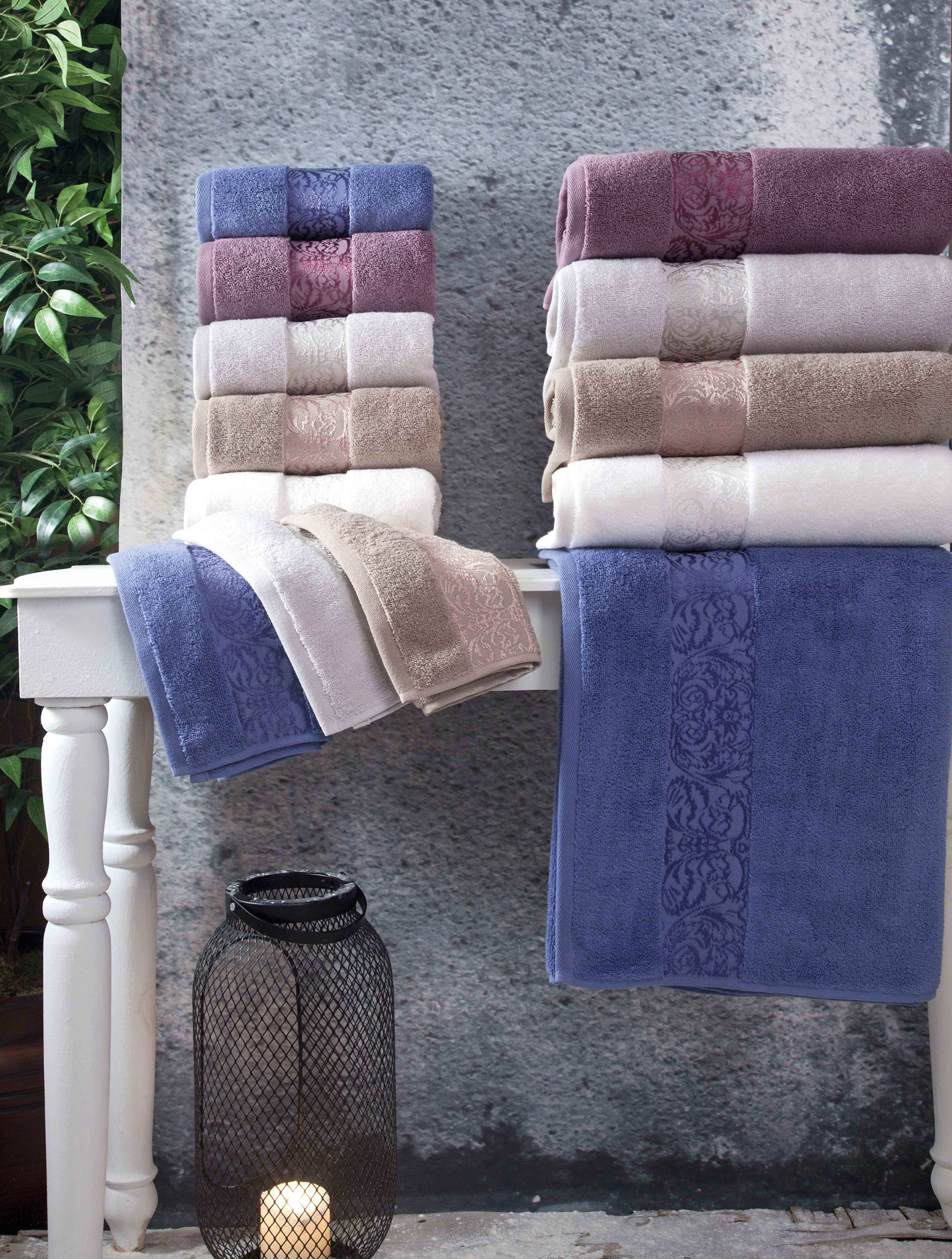 Купить Полотенца Arya, Полотенце Jewel Цвет: Экрю (70х140 см), Турция, Бежевый, Махра