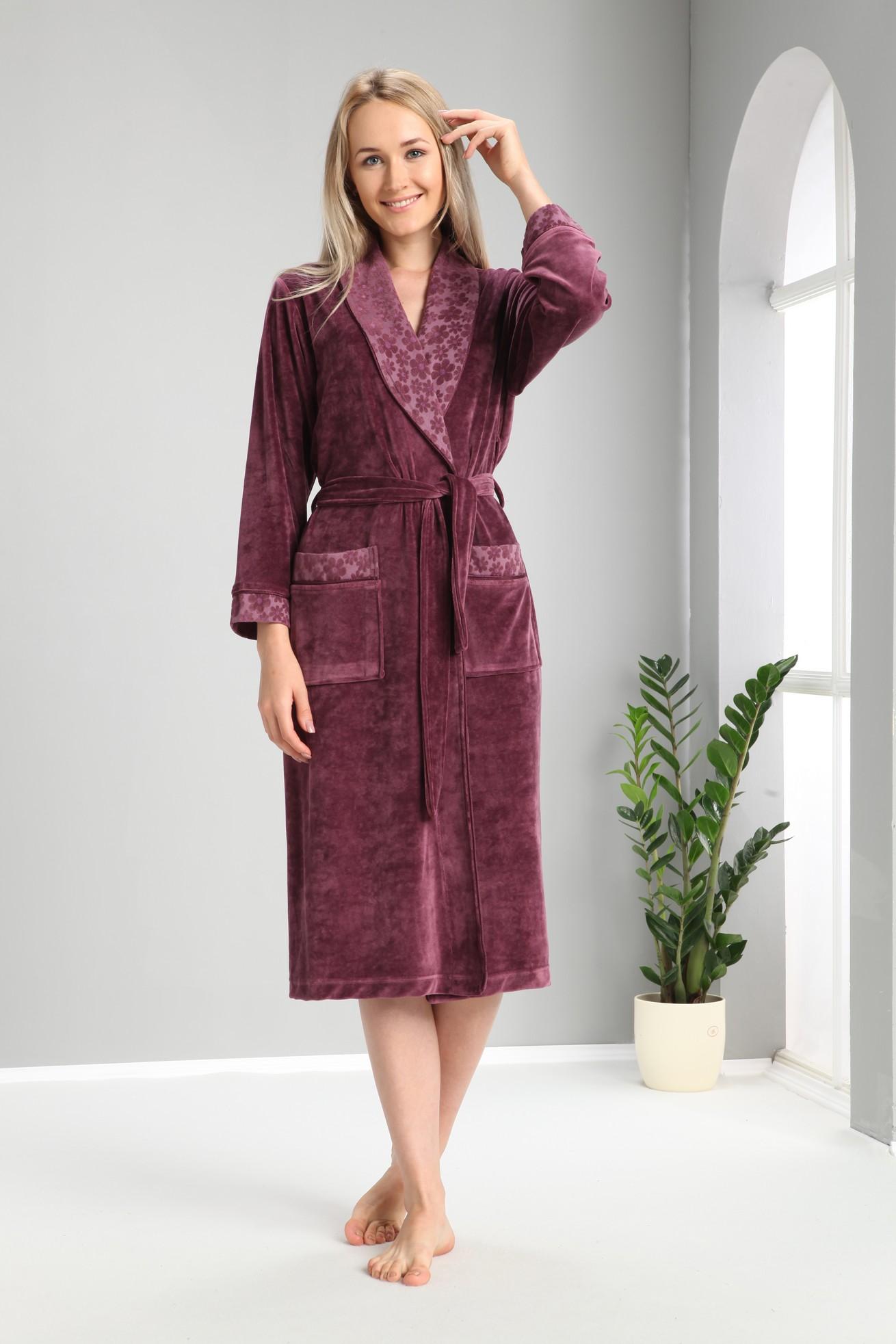 Банный халат Lizette Цвет: Фиолетовый (xxxL) Nusa nus550349