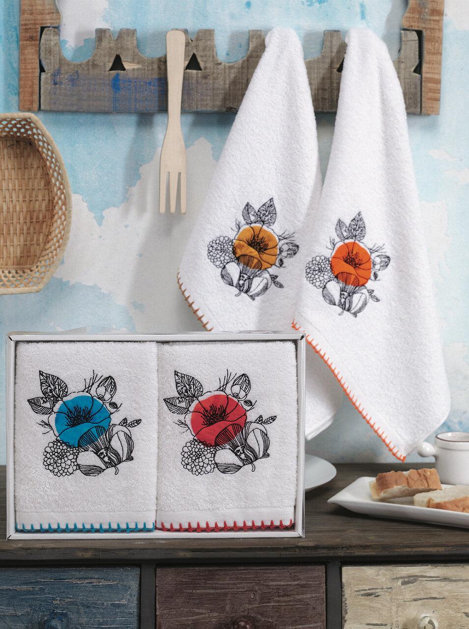 Кухонное полотенце Мальва Цвет: Кремовый (50х70 см - 2 шт)