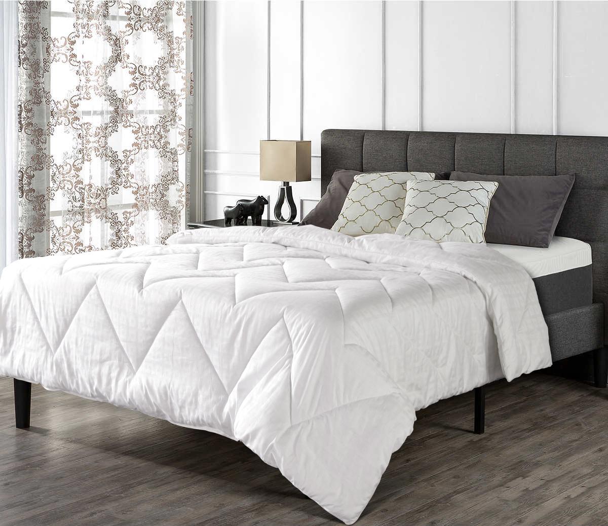 Купить Одеяла Tango, Одеяло Cashmere Всесезонное (200х220 см), Китай, Белый, Хлопковый страйп-сатин