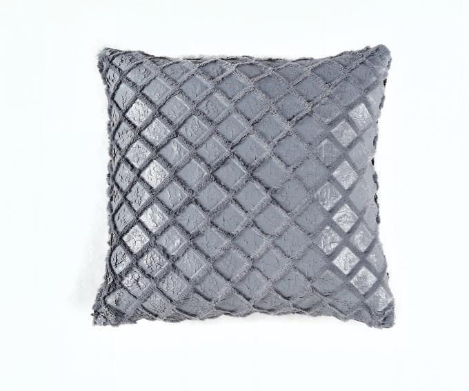 Купить Декоративные подушки Arya, Декоративная наволочка Jelly Цвет: Серый (45х45), Турция, Вязаный акрил