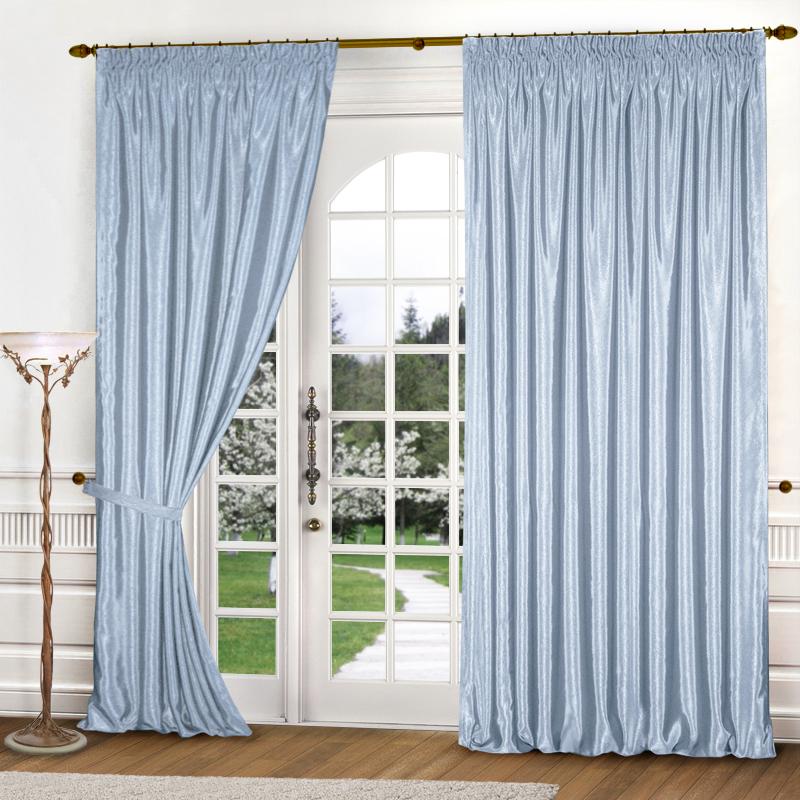 Купить Шторы Elegante, Классические шторы Шелковый Блеск Цвет: Голубой, Россия, Атлас
