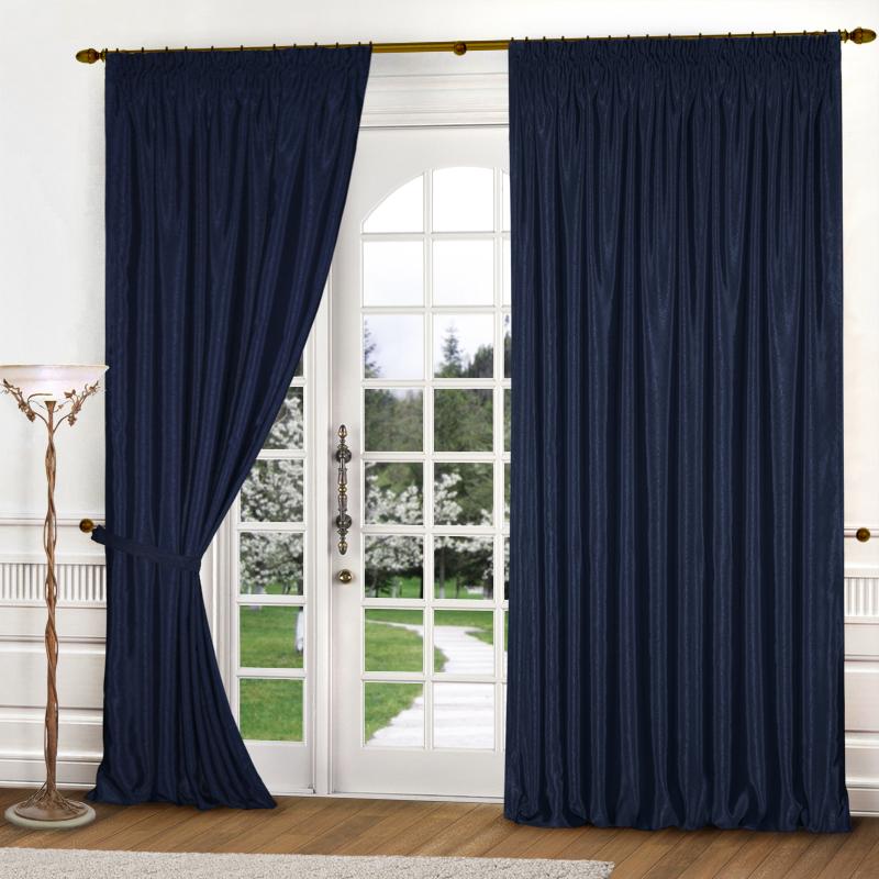 Купить Шторы Elegante, Классические шторы Sheryl Цвет: Синий, Китай, Атлас