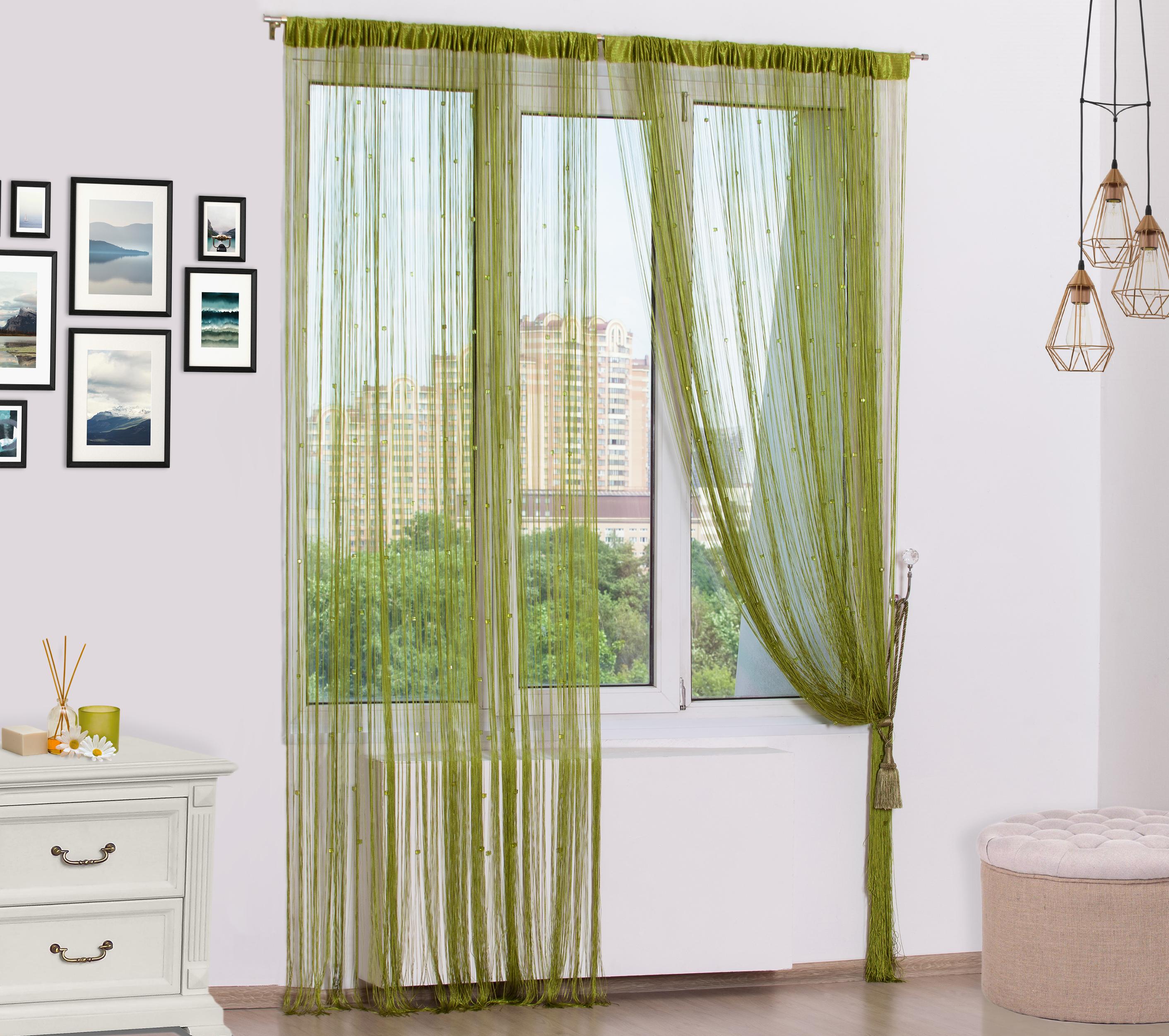 Нитяные шторыSayna Цвет: Зеленый