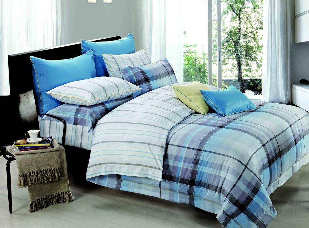 Купить Комплекты постельного белья Mioletto, Постельное белье Wil (2 спал.), Китай, Голубой, Хлопковый сатин