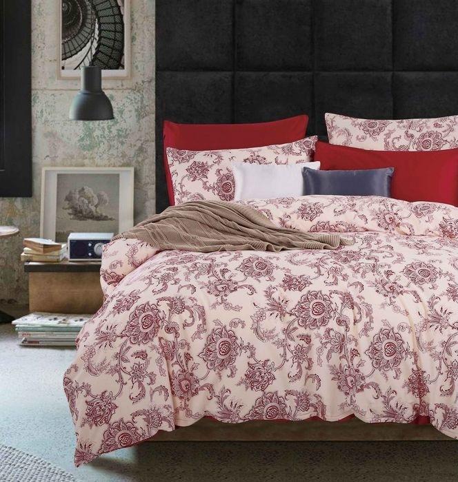 Купить Комплекты постельного белья Mioletto, Постельное белье Itai (2 сп. евро), Китай, Красный, Розовый, Хлопковый сатин
