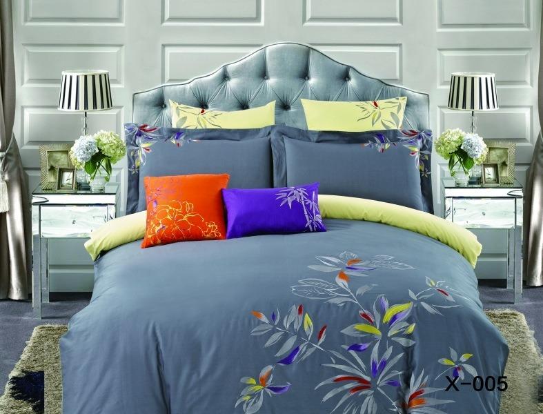 Купить Комплекты постельного белья Mioletto, Постельное белье Kathryn (2 спал.), Китай, Желтый, Серый, Хлопковый сатин