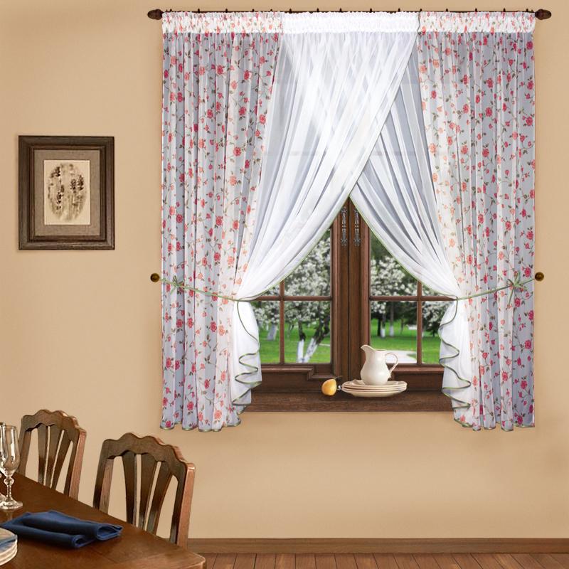 Купить Шторы Elegante, Скрещенные шторы Прованс Цвет: Красный, Китай, Вуаль