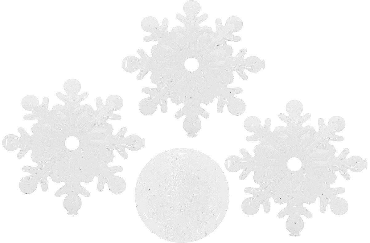 Новогоднее украшение Подвеска Снежинка Цвет: Белый (40 см) фото
