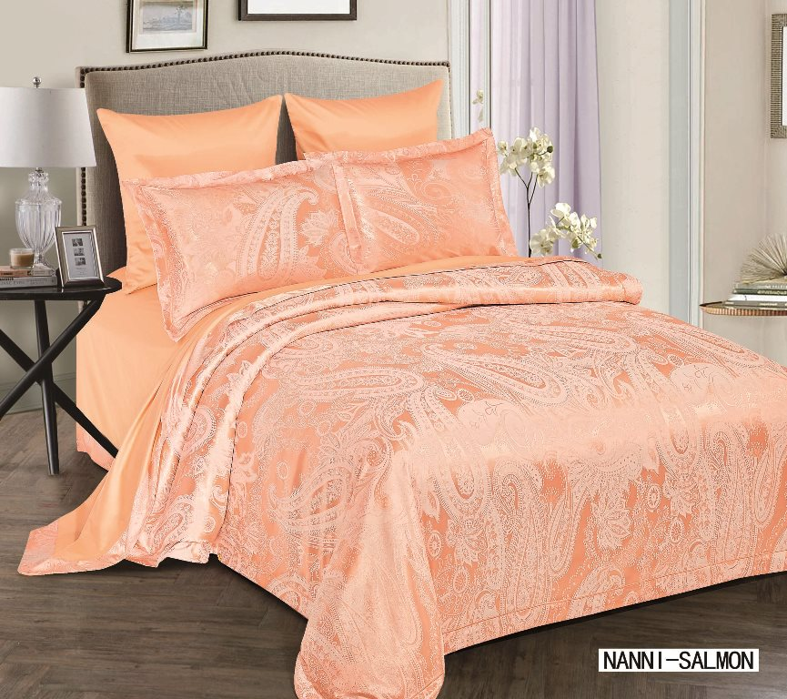 Купить Комплекты постельного белья Arya, Постельное белье Nanni Цвет: Персиковый (2 сп. евро), Турция, Оранжевый, Хлопковый сатин