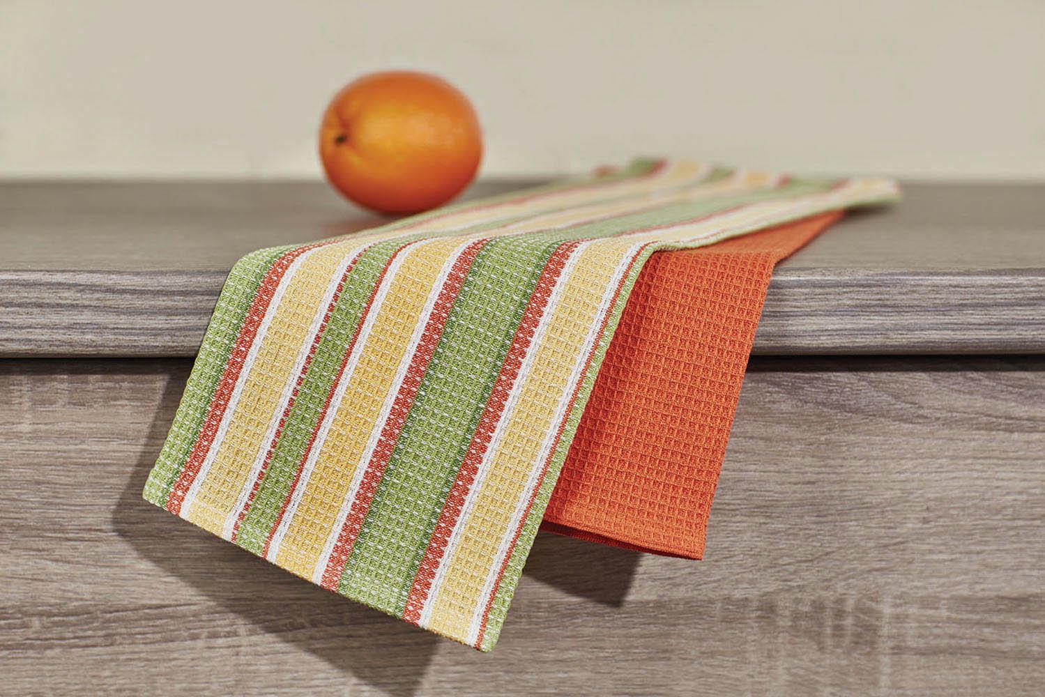 Купить Полотенца Primavelle, Кухонное полотенце Latte Цвет: Зеленый (40х60 см - 2 шт), Россия, Вафля