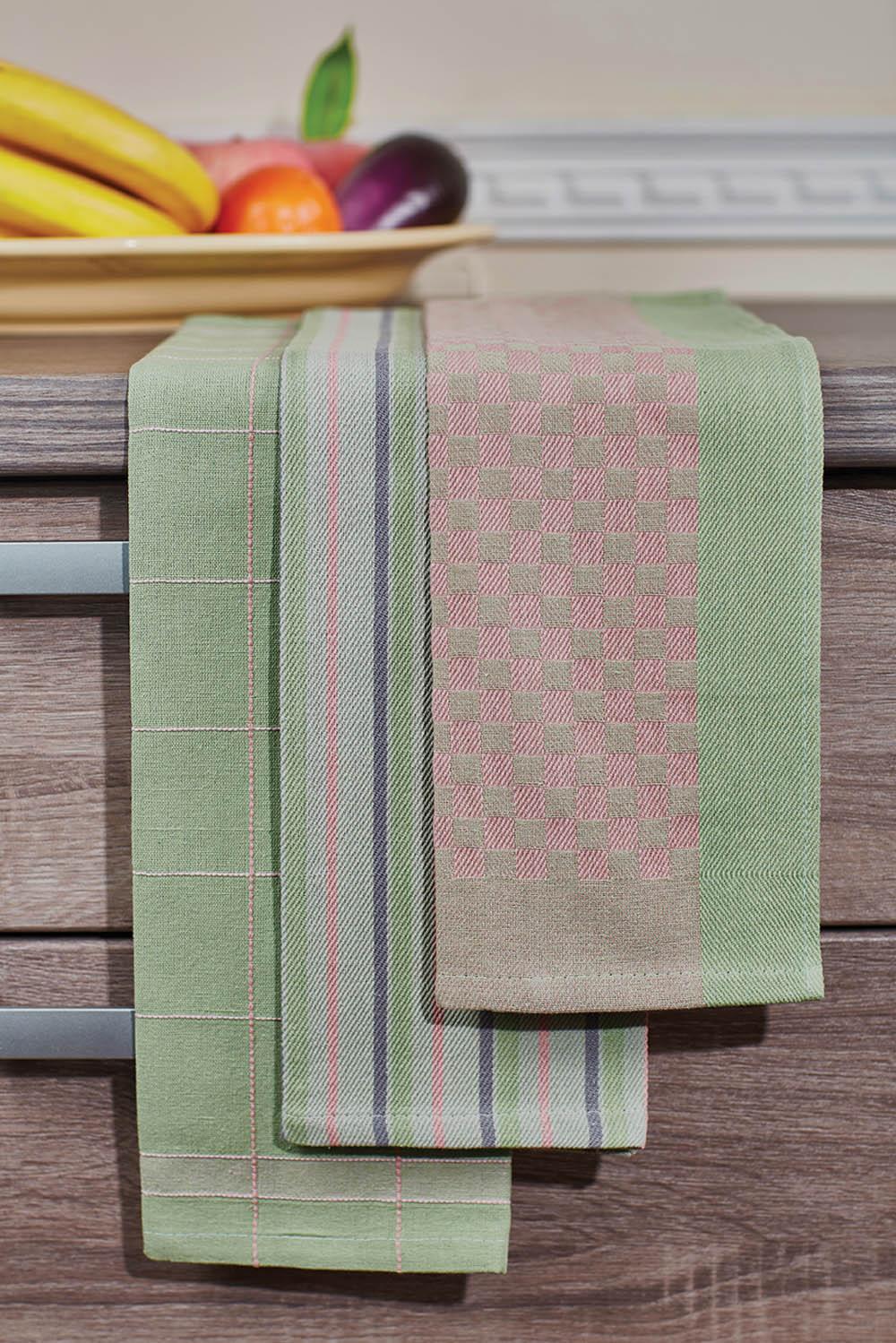 Полотенца Primavelle Кухонное полотенце Jaycee Цвет: Зеленый (40х60 см - 3 шт) primavelle кухонное полотенце floressa цвет фиолетовый 40х60 см 2 шт