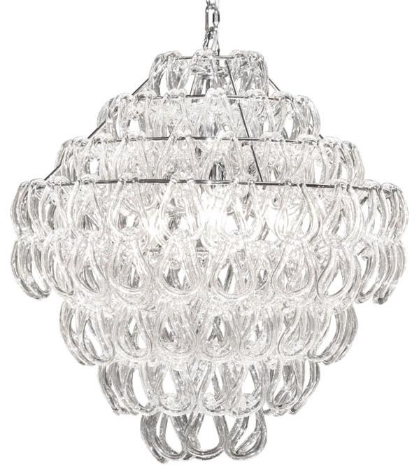 Купить Настенно-потолочные светильники CRYSTAL LIGHT, Подвесной светильник Canberra (80х150 см), Китай, Белый, Металл, Стекло