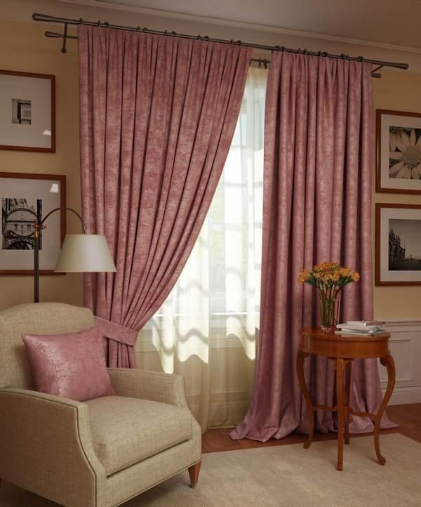 Шторы Kauffort Классические шторы Ellery Цвет: Розово-Лиловый