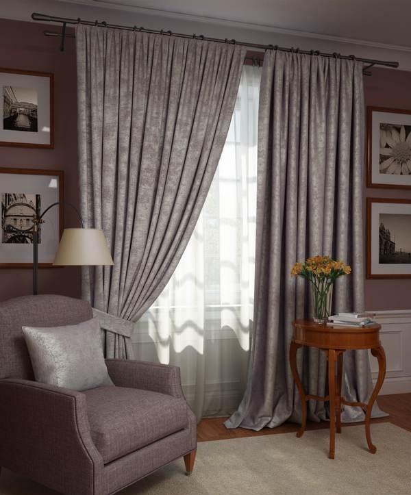 Шторы Kauffort Классические шторы Ellery Цвет: Сиреневый