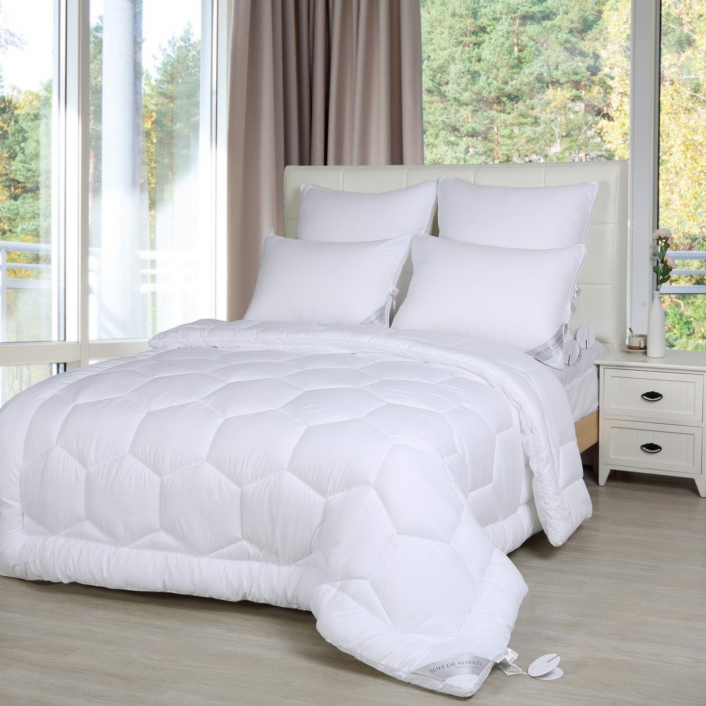 Одеяло Antibacterial цвет: белый (195х215 см)