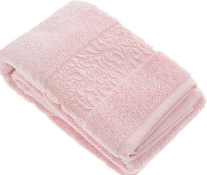 Купить Полотенца Issimo, Полотенце Valencia Цвет: Розовый (50х90 см), Турция, Бамбук