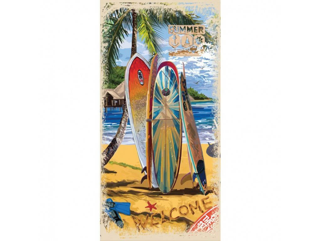 Полотенца Mona Liza Полотенце Surf (70х140 см) mona liza mona liza полотенце 70 140 summer surf