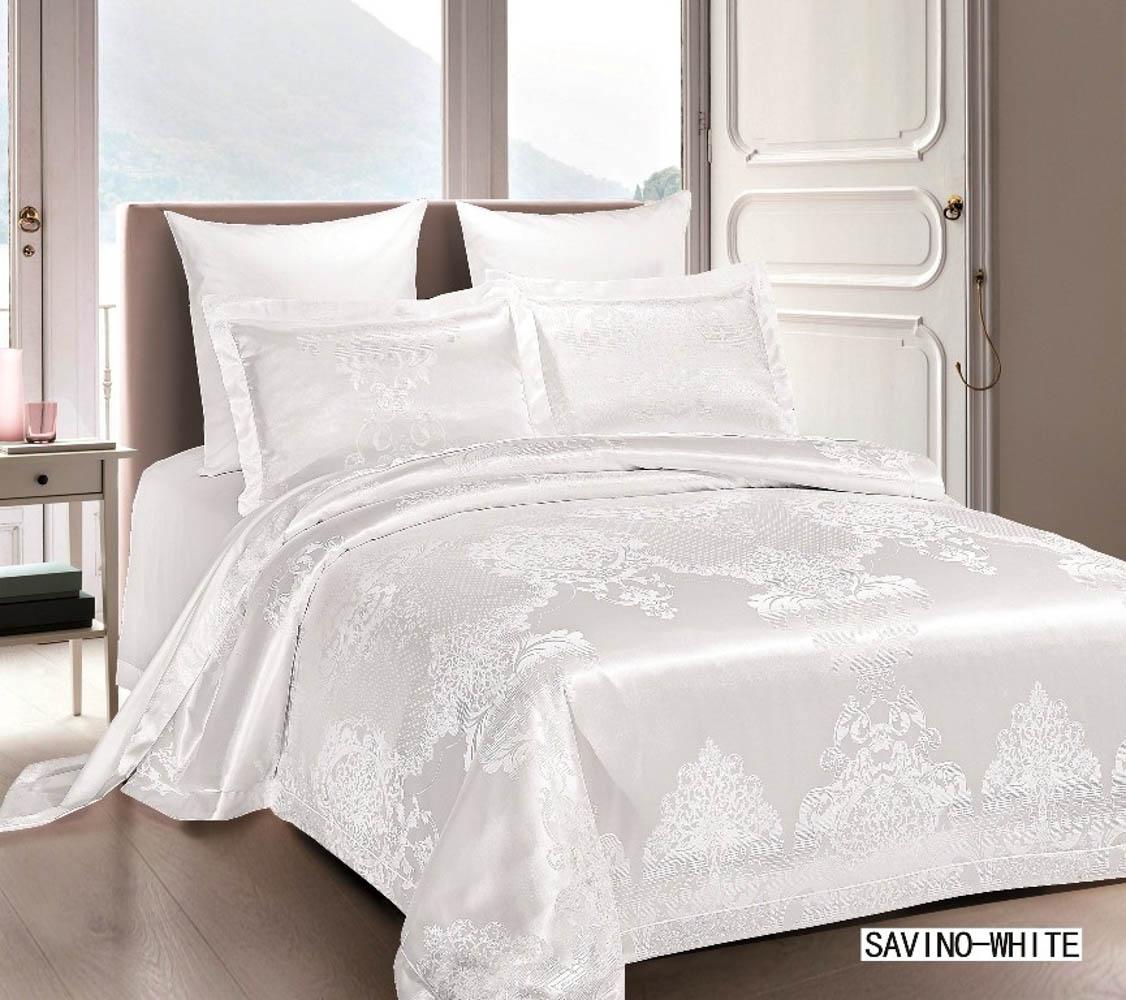 Купить Комплекты постельного белья Arya, Постельное белье Savino Цвет: Белый (2 сп. евро), Турция, Хлопковый сатин