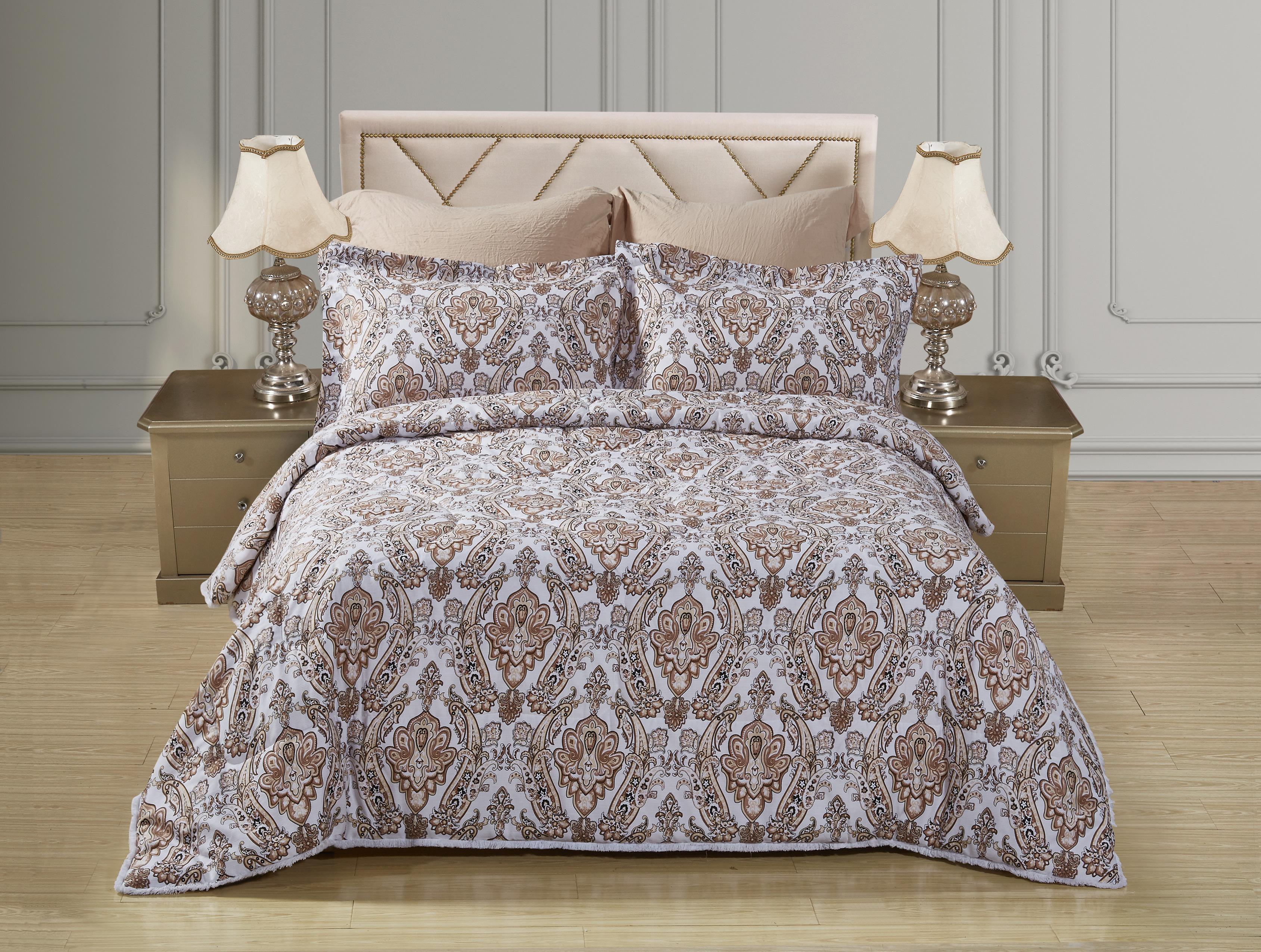 Купить Комплекты постельного белья Mioletto, Постельное белье с одеялом-пододеяльником Jenny (семейное), Китай, Хлопковый сатин, Синтетический сатин