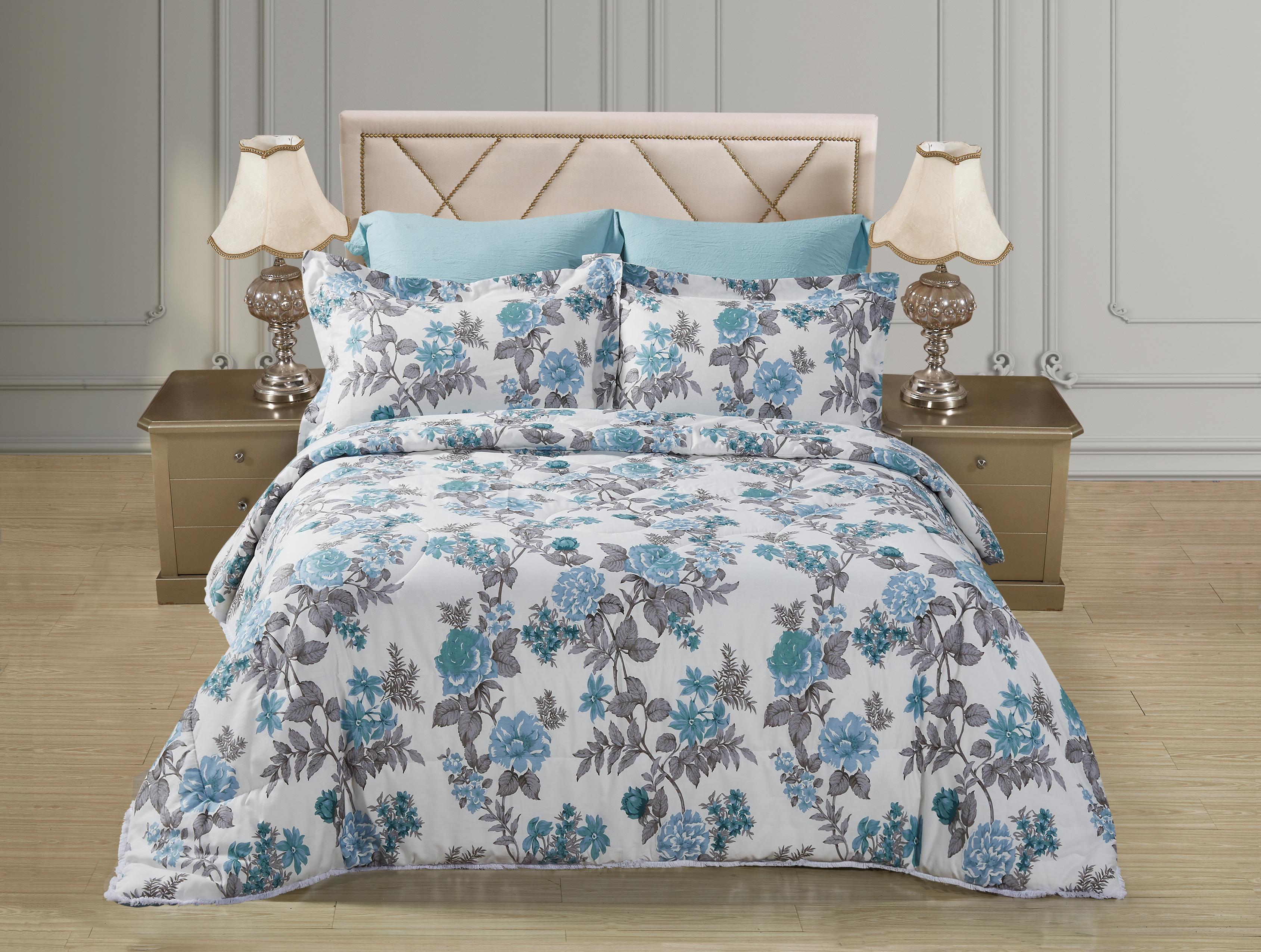 Купить Комплекты постельного белья Mioletto, Постельное белье с одеялом-пододеяльником Rudiano (семейное), Китай, Хлопковый сатин, Синтетический сатин