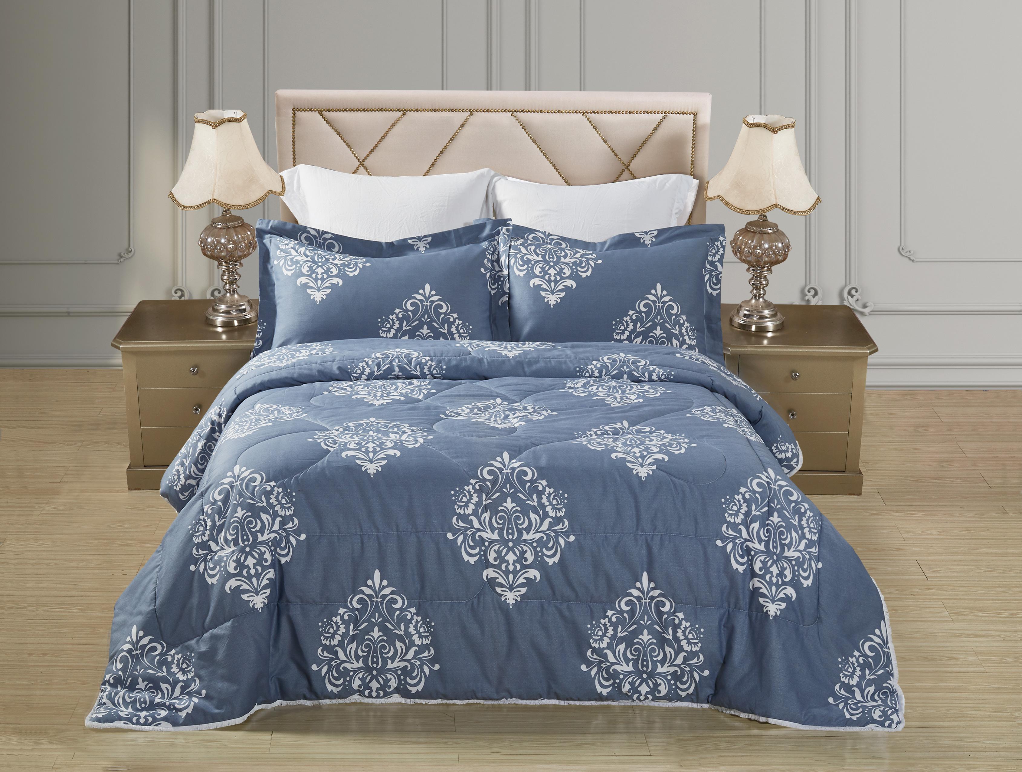 Купить Комплекты постельного белья Mioletto, Постельное белье с одеялом-пододеяльником Bettina (семейное), Китай, Хлопковый сатин, Синтетический сатин