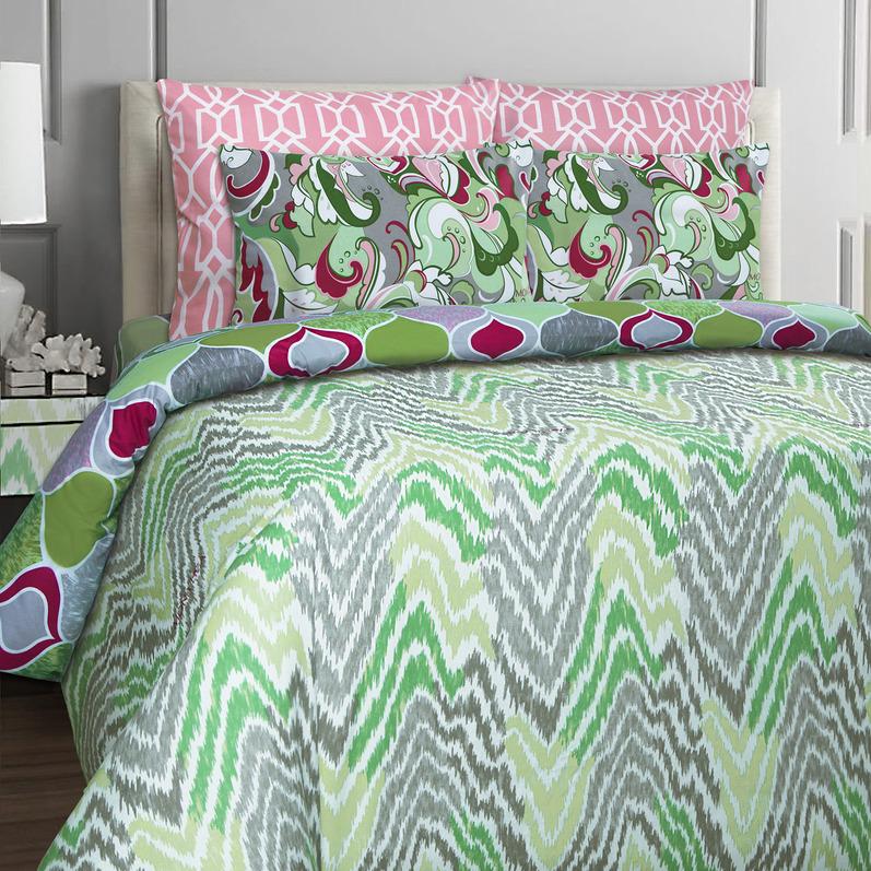 Купить Комплекты постельного белья Mona Liza, Постельное белье Sea (семейное), Россия, Зеленый, Бязь