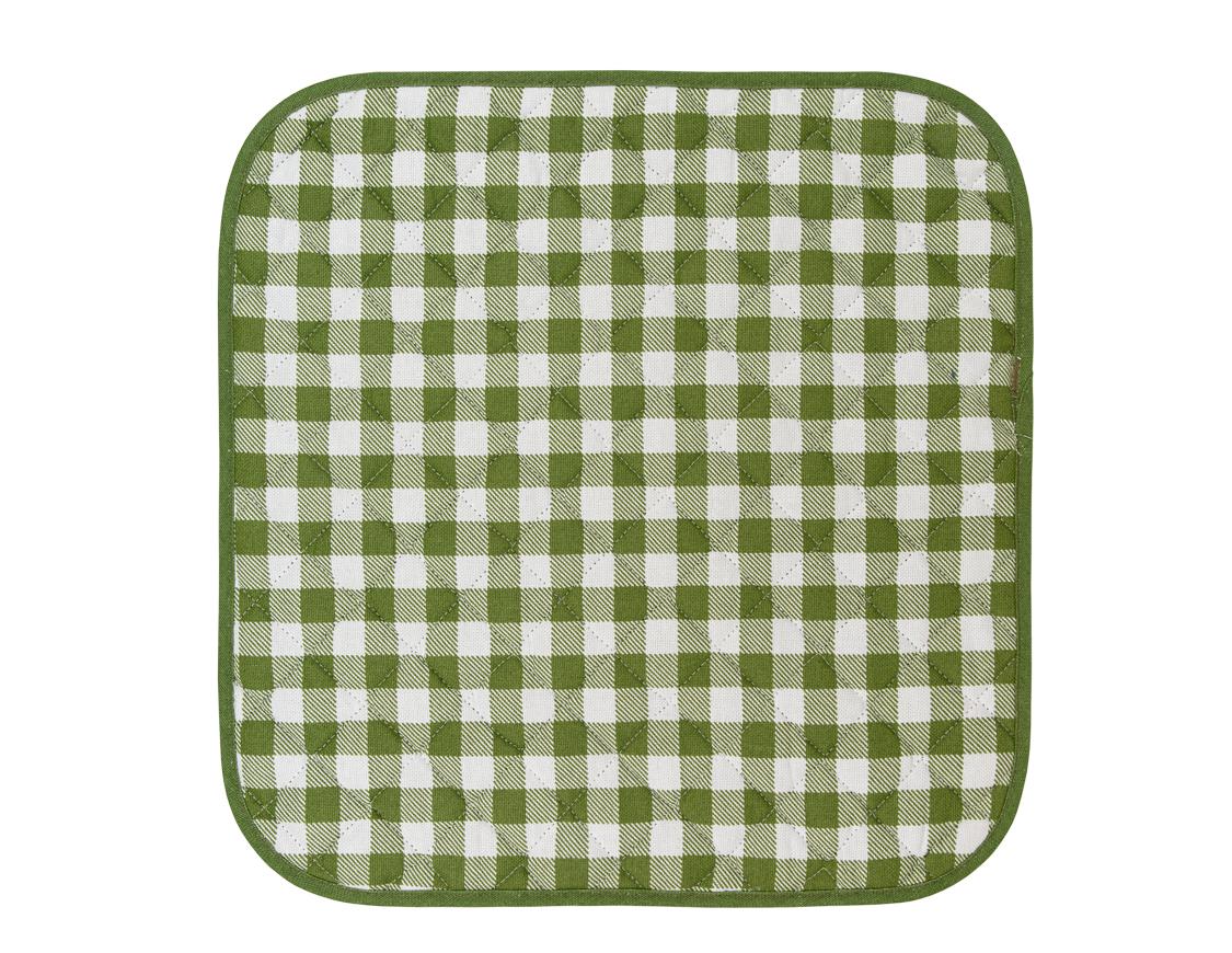 Подушка на стул Клетка цвет: зеленый (40х40)