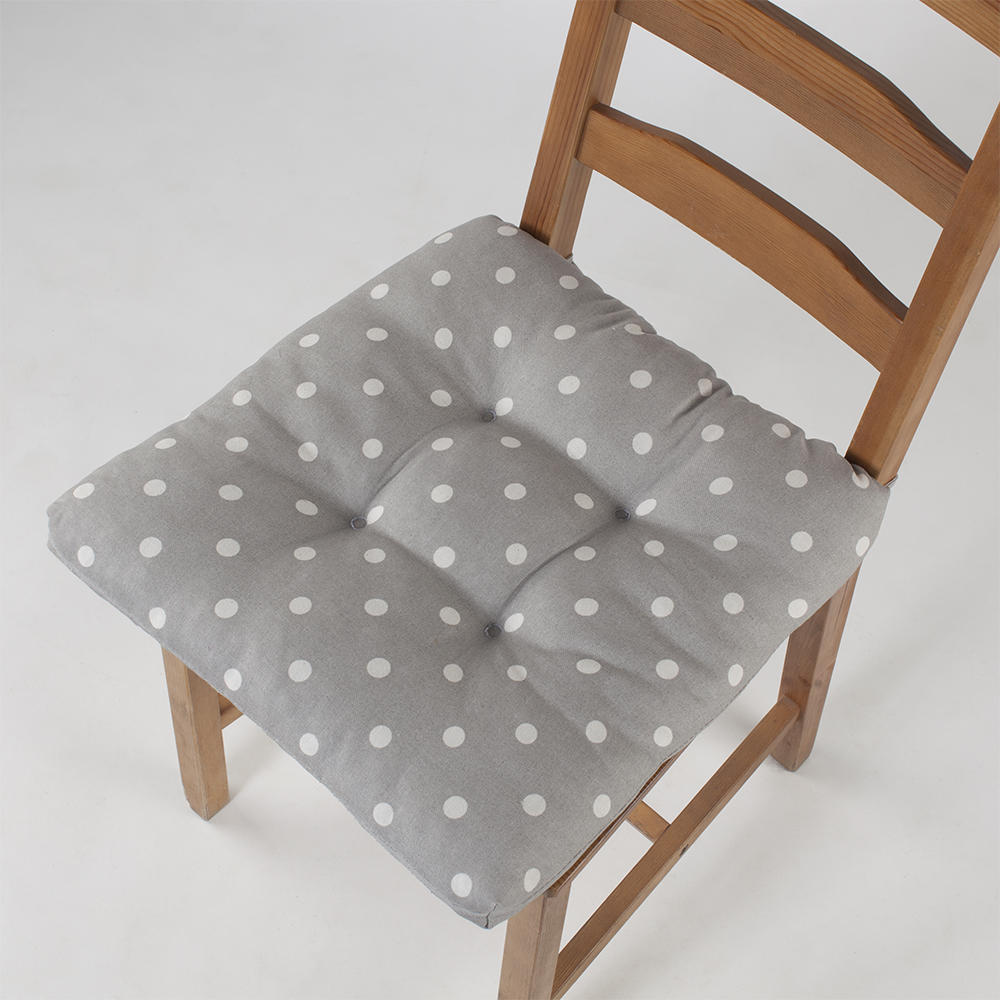 Подушка на стул Горох цвет: серый (40х40)