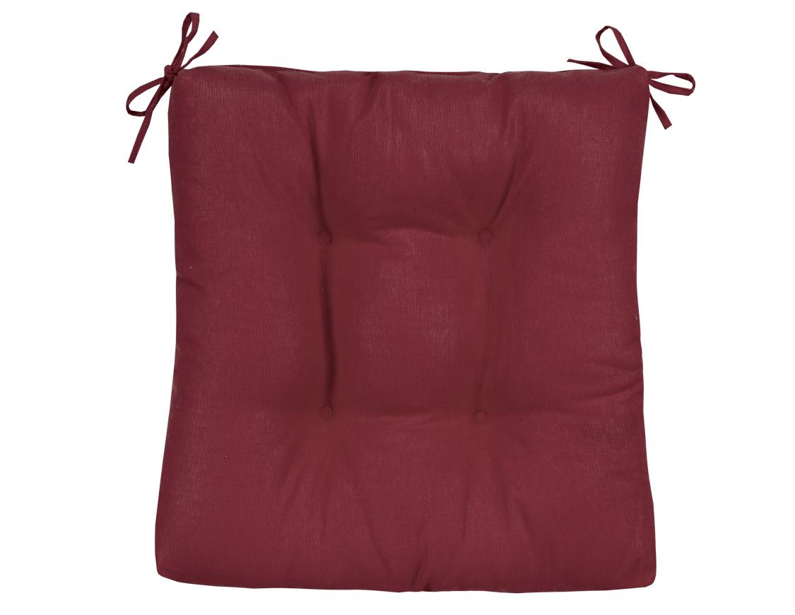 Подушка на стул Carla цвет: бордовый (40х40)