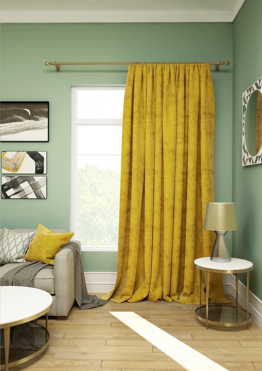 Шторы Kauffort Классические шторы Solemare Цвет: Желтый