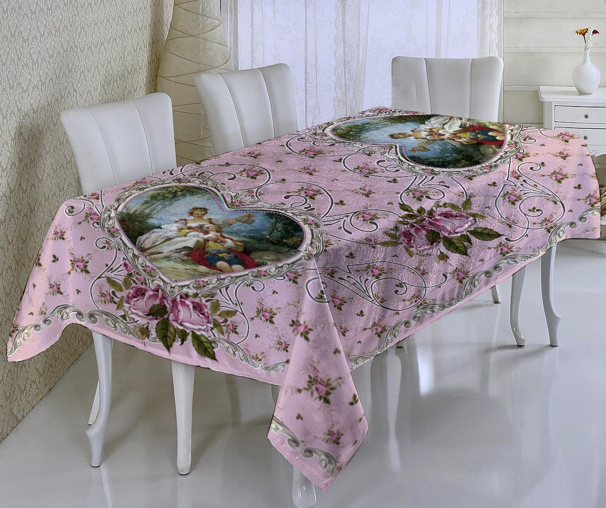 Купить Скатерти и салфетки Elegante, Скатерть Нежный Ангел Цвет: Розовый (120х150 см), Китай, Габардин