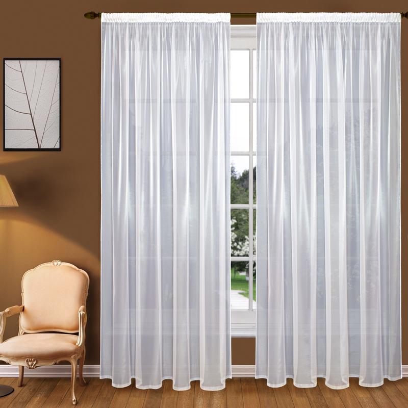 Купить Шторы Elegante, Классические шторы Diane Цвет: Белый, Китай, Вуаль
