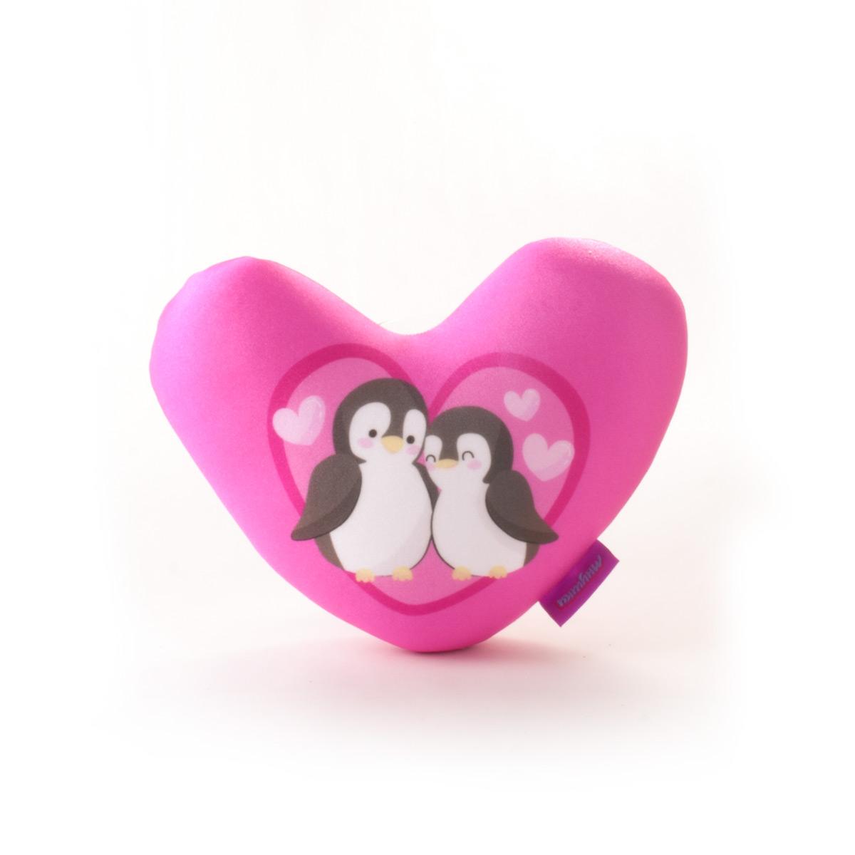 Декоративная подушка Pingviny Цвет: Розовый (19х21) фото